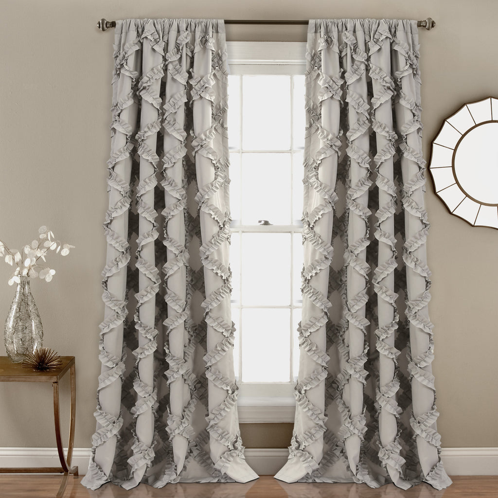 ruffle product aurora shipping overstock curtain panel curtains linen free border today flax home garden belgian