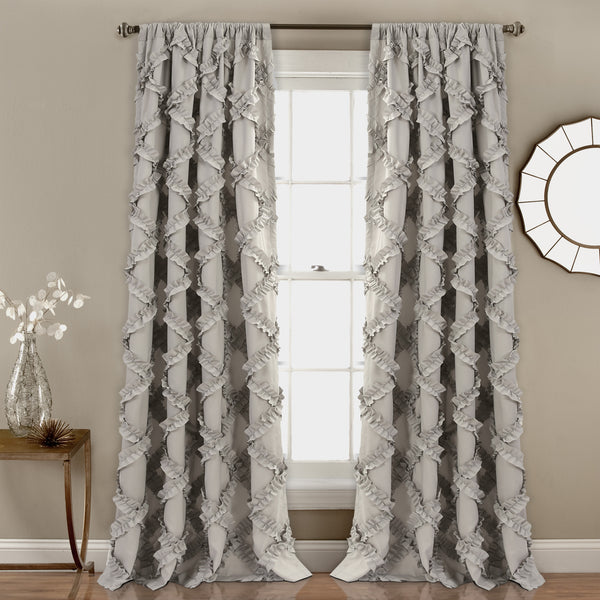 Ruffle Diamond Window Curtain Set Lush Decor Www