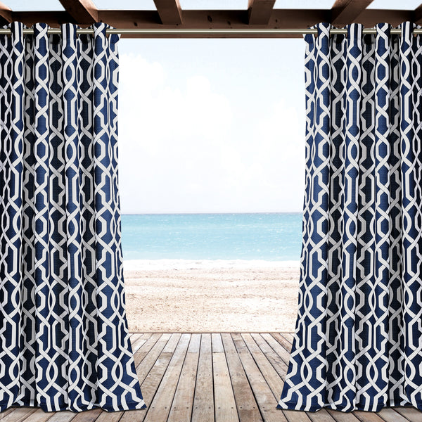 Edward Trellis Outdoor Window Curtain Set