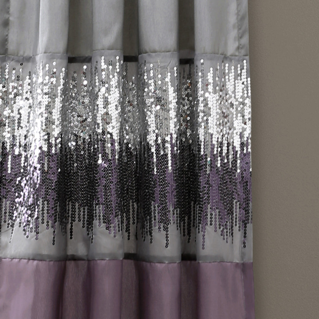 Night Sky Window Curtain Purple Gray