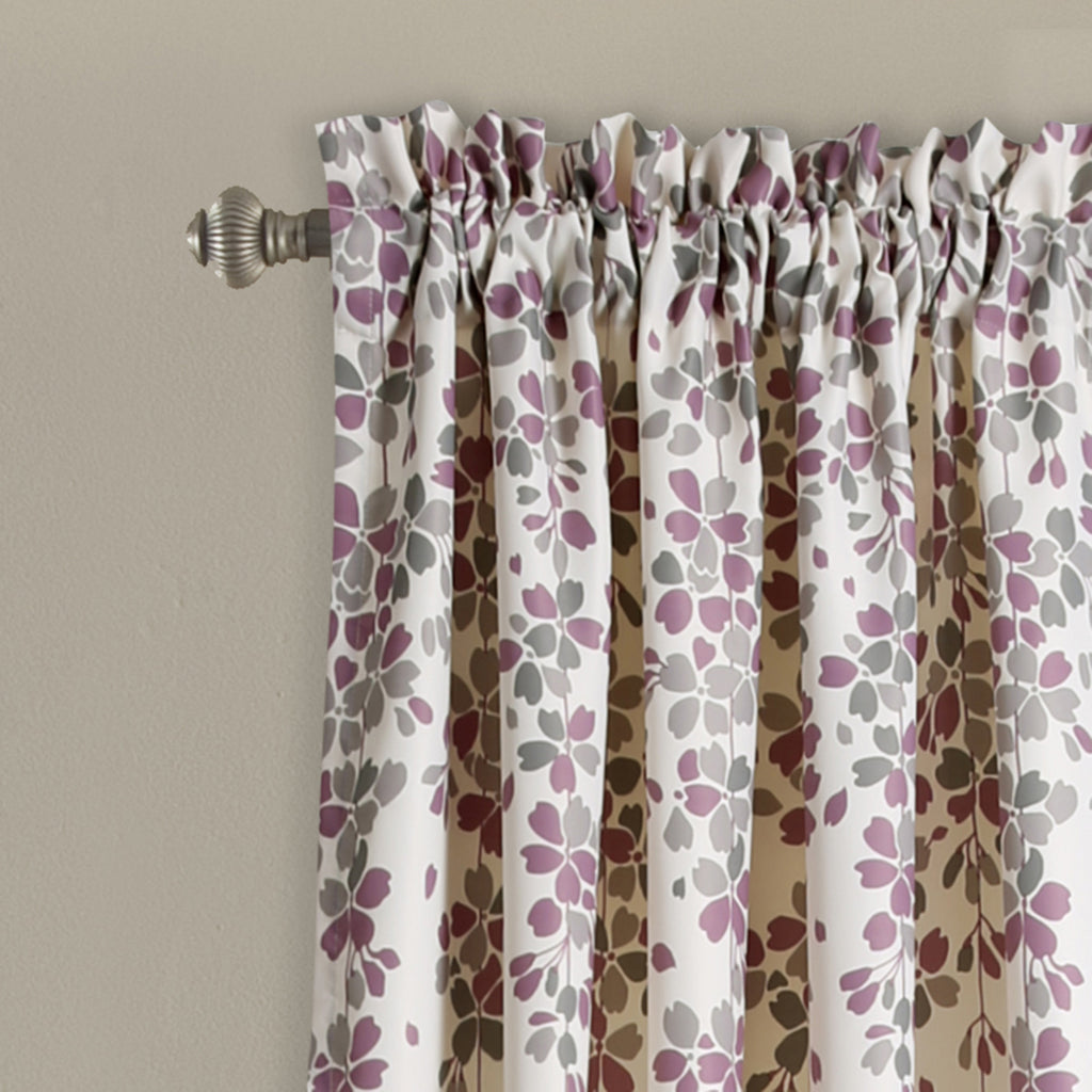 Weeping Flower Room Darkening Window Curtain Pair | Lush Decor ...
