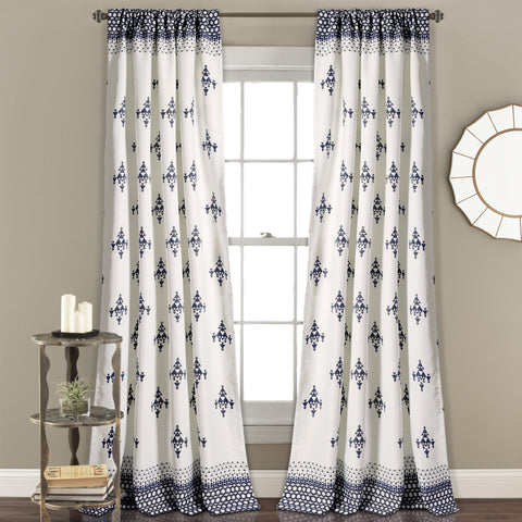 Budapest Geo Room Darkening Window Curtain Set