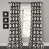 Diamond Ikat Room Darkening Window Curtain Set