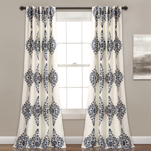 Keya Medallion Room Darkening Window Curtain Panel Set
