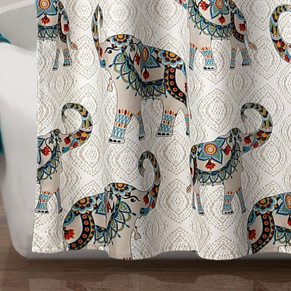 Hati Elephants Shower Curtain