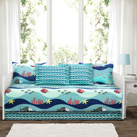 Sea Life 6 Piece Daybed Cover Set