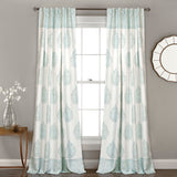 Teardrop Leaf Room Darkening Window Curtain Panel Set