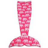 Elephant Parade Mermaid Shape Sherpa Throw