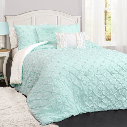 Ravello Pintuck Juvy 5 Piece Comforter Set