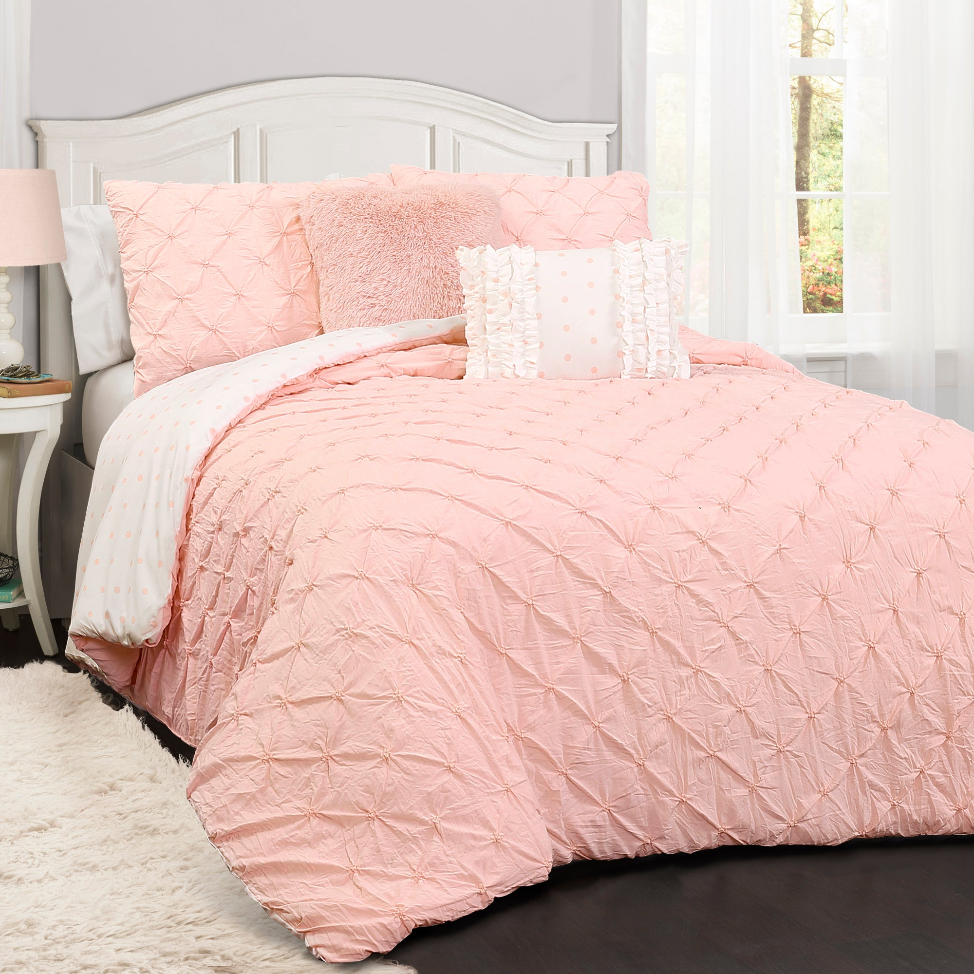 comforter peiranos fences full pertaining image vs white of bedding pink bed for to sets queen and