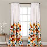 Percy Bloom Room Darkening Window Curtain Panel Set