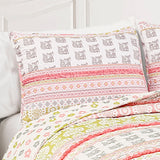 Fox Ruffle Stripe Quilt 4 Piece Set Twin
