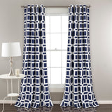 Sequoia Geo Room Darkening Window Curtain Panel Set