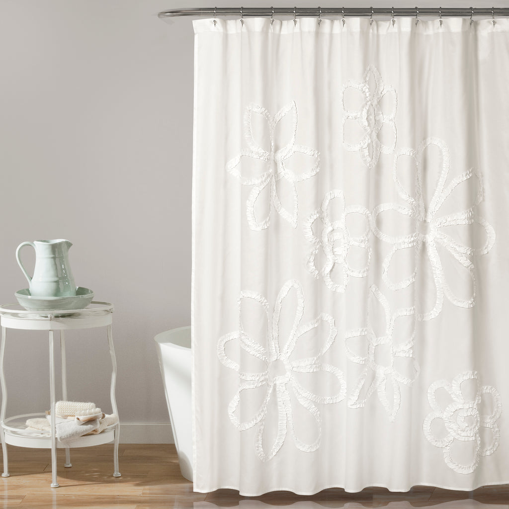 Ruffle Flower Shower Curtain Lush Decor Www Lushdecor Com