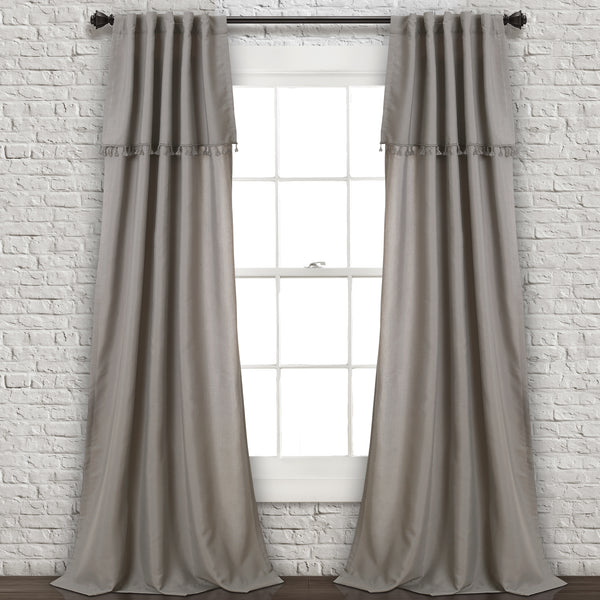 Ivy Tassel Window Curtain Panel Set