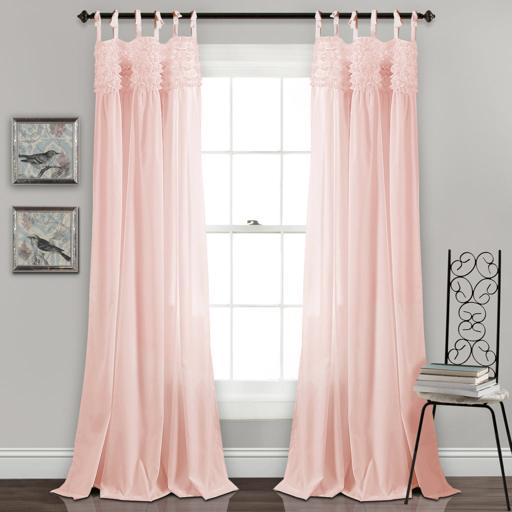 sheer panel voile ruffle ruffled window curtains gypsy curtain treatment p