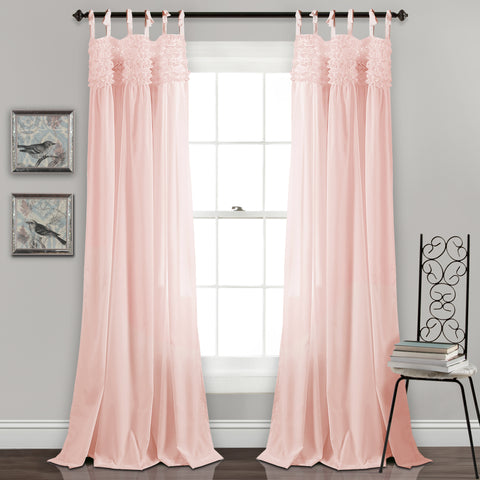 Lydia Ruffle Window Curtain Panel Set