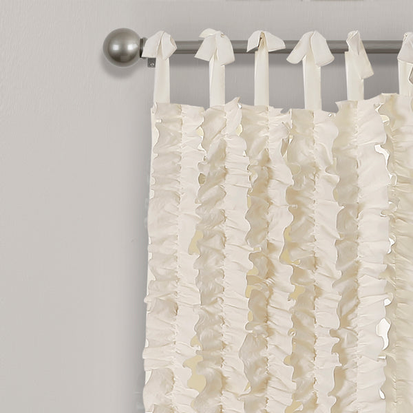 Sophia Ruffle Window Curtain Panel Set