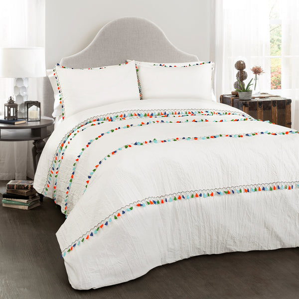 Bedding Decor: Boho Tassel 3 Piece Comforter Set