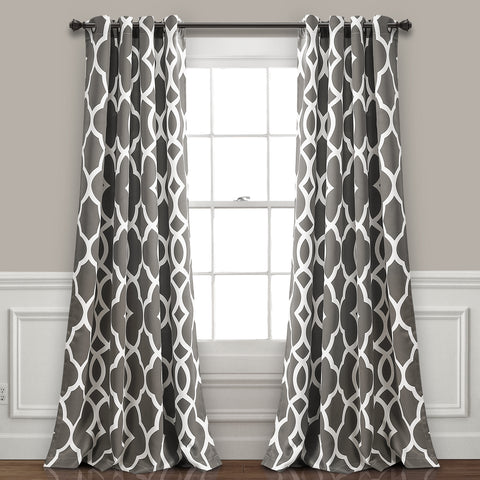 Connor Geo Room Darkening Window Curtain Panel Set