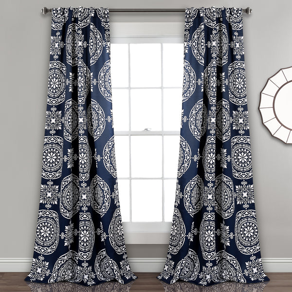 Karmen Medallion Room Darkening Window Curtain Panel Set