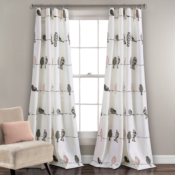 rowley birds room darkening window curtain set lush decor. Black Bedroom Furniture Sets. Home Design Ideas