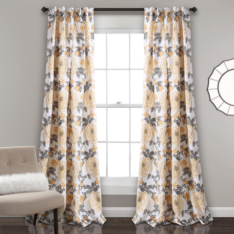 Aromo Garden Room Darkening Window Curtain Panel Set