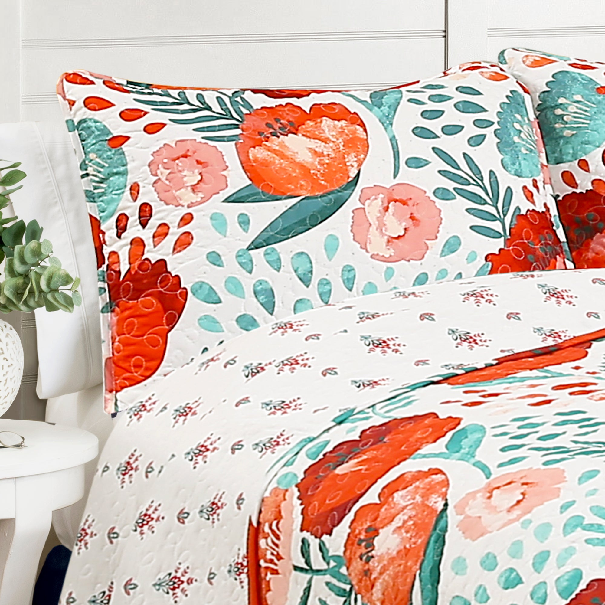 Poppy Garden Quilt 3 Piece Set