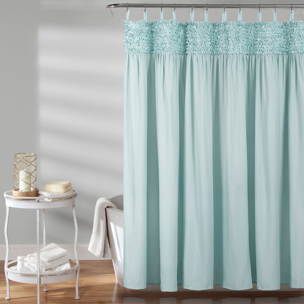 Lydia Ruffle Shower Curtain