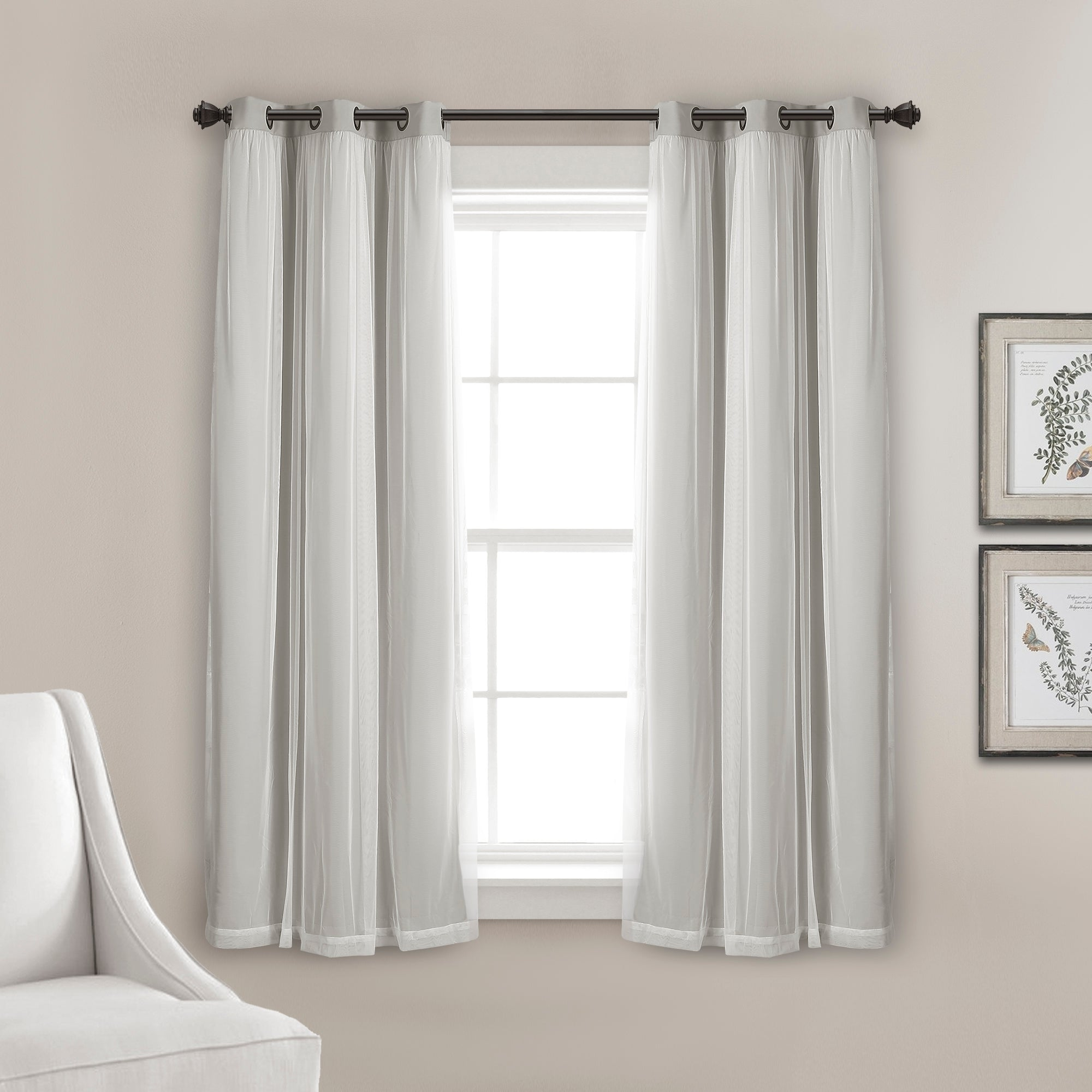 Grommet Sheer With Insulated Blackout Lining Curtain Panel Set Lush Decor Www Lushdecor Com Lushdecor