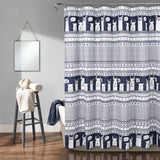 Llama Stripe Shower Curtain