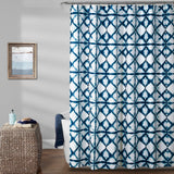 Geo Shibori Shower Curtain