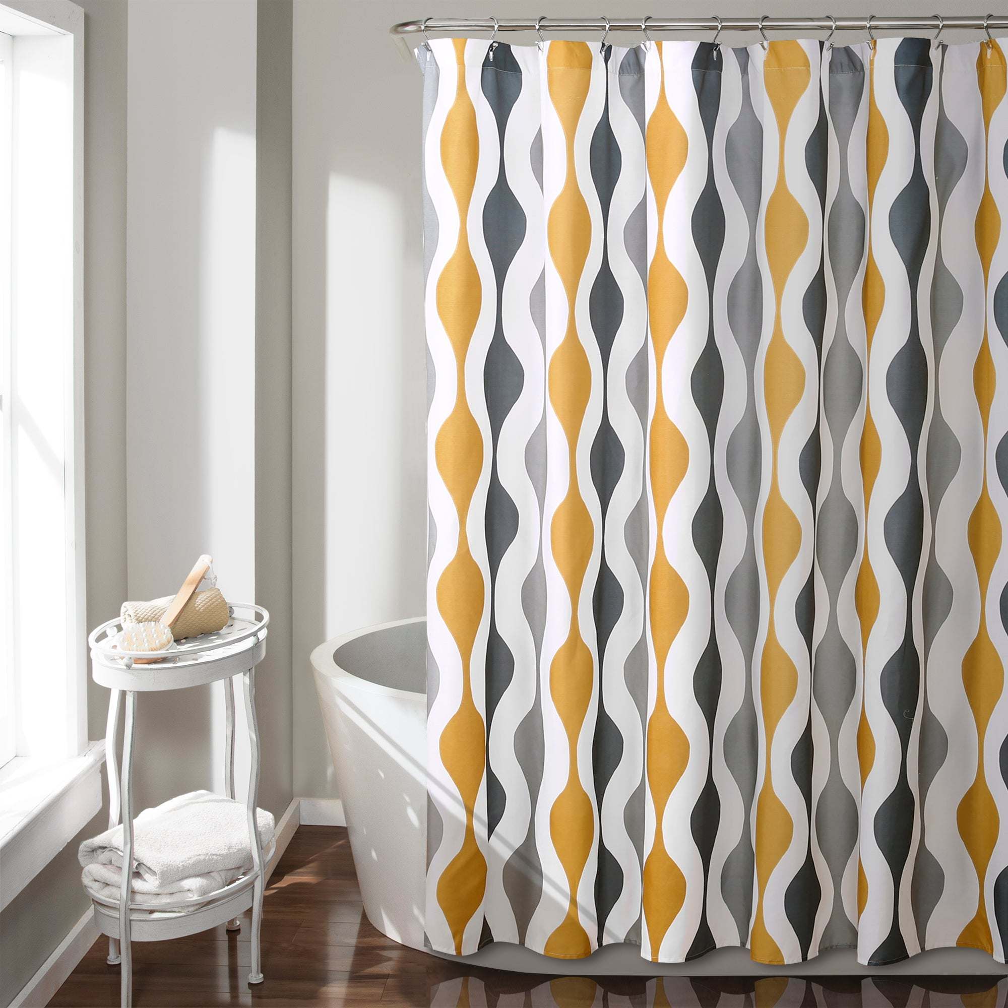 Mid Century Geo Shower Curtain