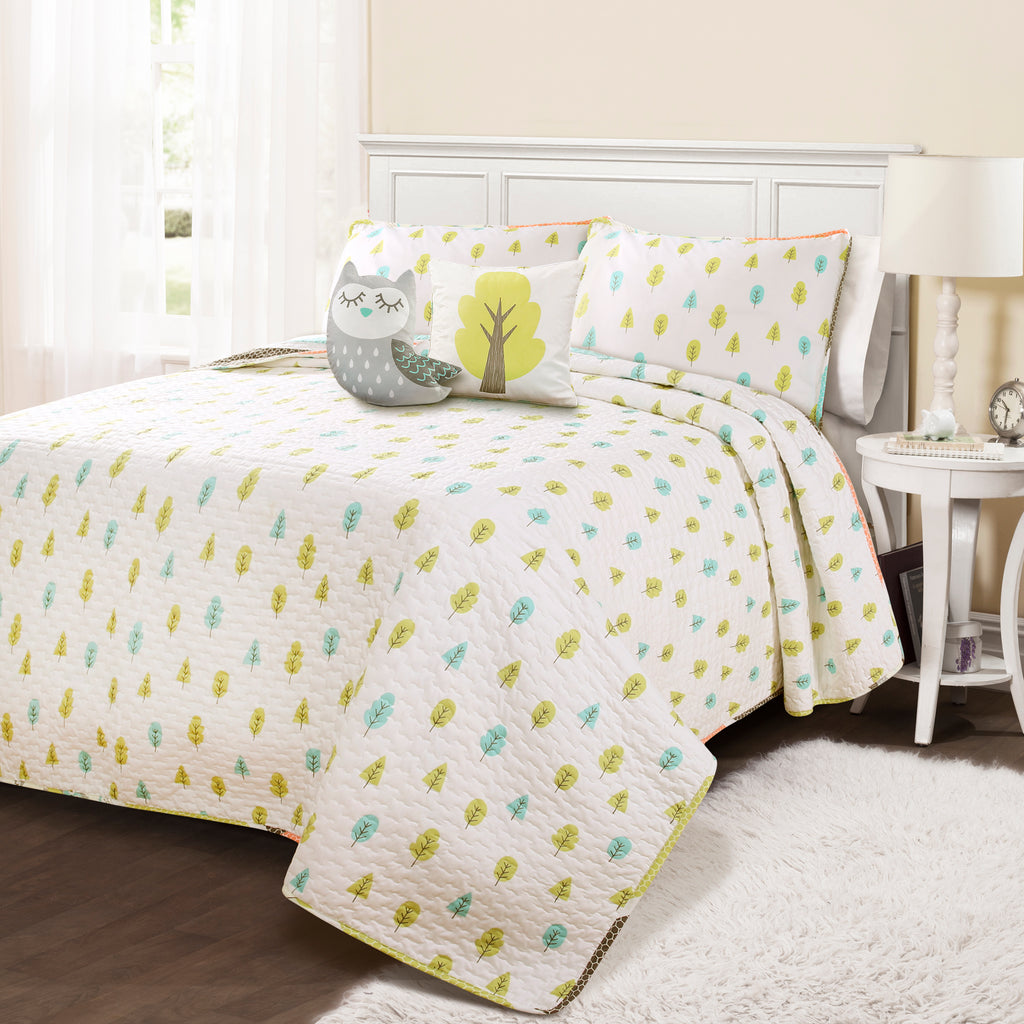 owl stripe quilt set lush decor www