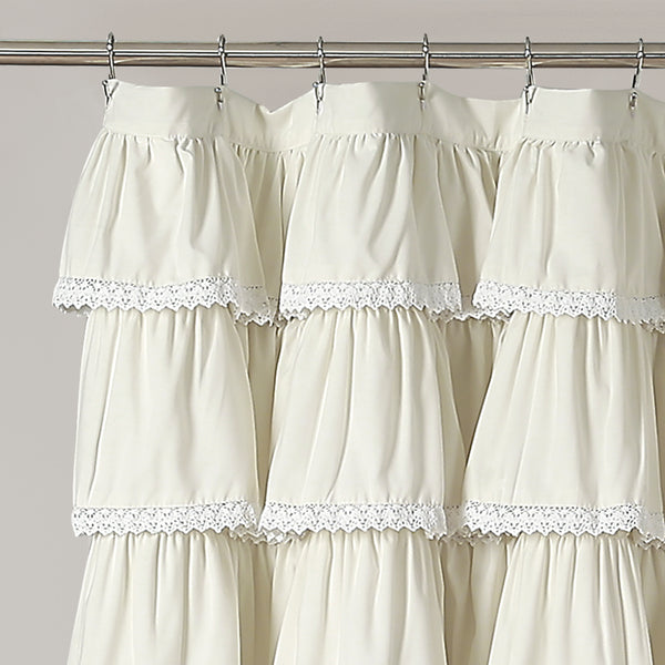 Lace Ruffle Shower Curtain