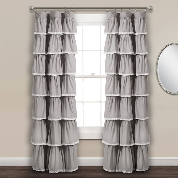 Lace Ruffle Window Curtain Panel