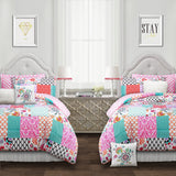 Brookdale Patchwork Comforter Set Back To Campus Dorm Room Bedding