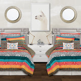 Boho Stripe 5 Piece Comforter Set Back To Campus Dorm Room Bedding
