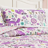 Pixie Fox Quilt 3 Piece Set Twin Size
