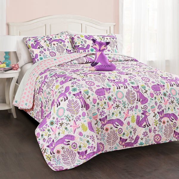 Pixie Fox Quilt 4 Piece Set