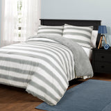 Plush Stripe Comforter Set Back To Campus Dorm Room Bedding