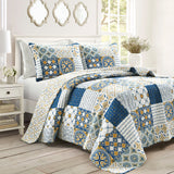 Monique Patch 3 Piece Quilt Set