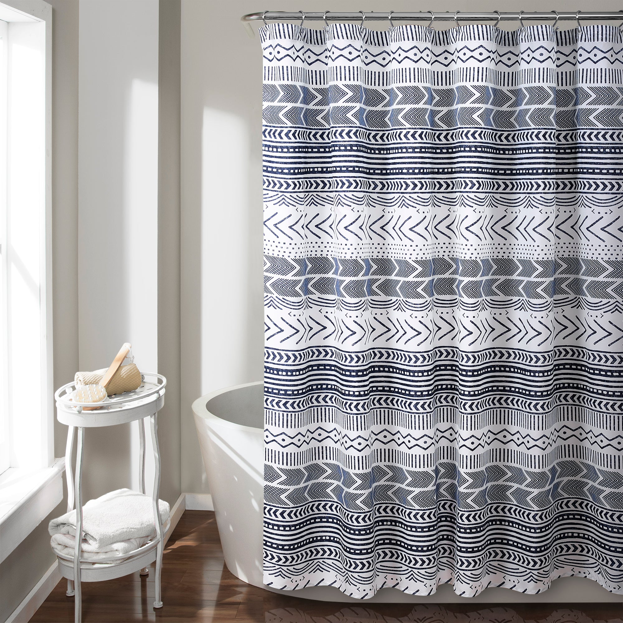 Hygge Geo Shower Curtain