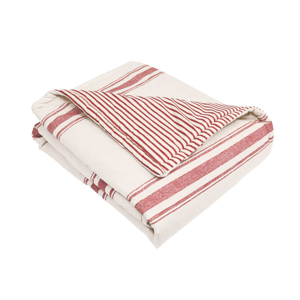 Farmhouse Stripe Throw
