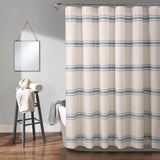 Farmhouse Stripe Shower Curtain