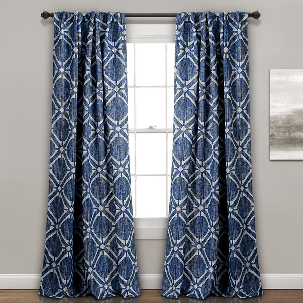 Kane Geo Room Darkening Window Curtain Panel Set