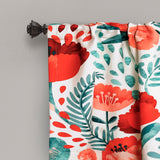 Poppy Garden Room Darkening Valance