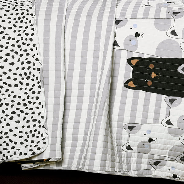 Stripe Bear Quilt Set