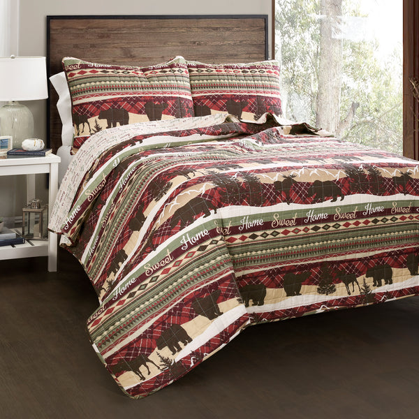 Holiday Lodge Quilt 3 Piece Set