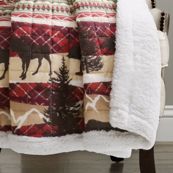 Holiday Lodge Sherpa Throw